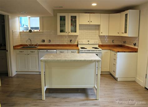 small basement kitchen ideas basement apartment from 4men1lady they used our white subway tile in their kitchen and bath