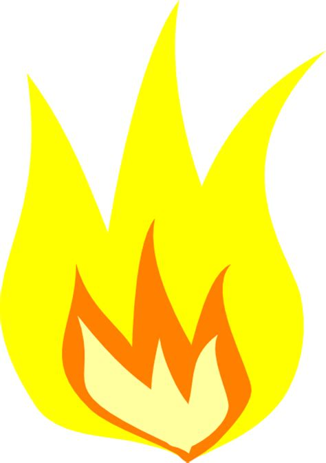 Yellow Fire Flame Clip Art