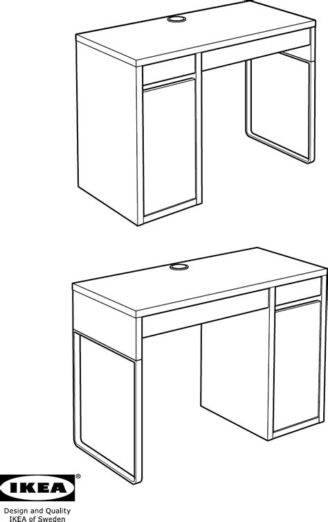 handleiding ikea micke bureau pagina 1 van 40 dansk