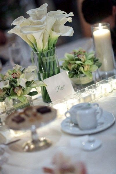 white calla lilly reception wedding flowers wedding decor