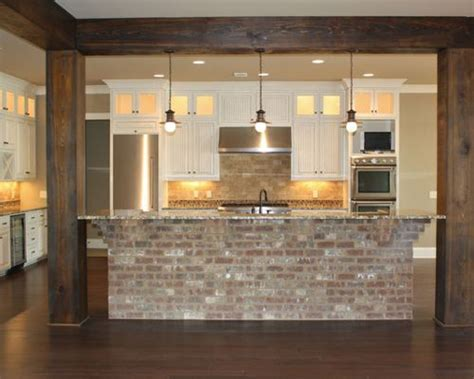 the brick kitchen island brick island ideas pictures remodel and decor 6047