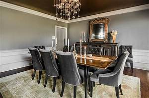 25 elegant and exquisite gray dining room ideas With deco cuisine avec chaise salle À manger gris anthracite