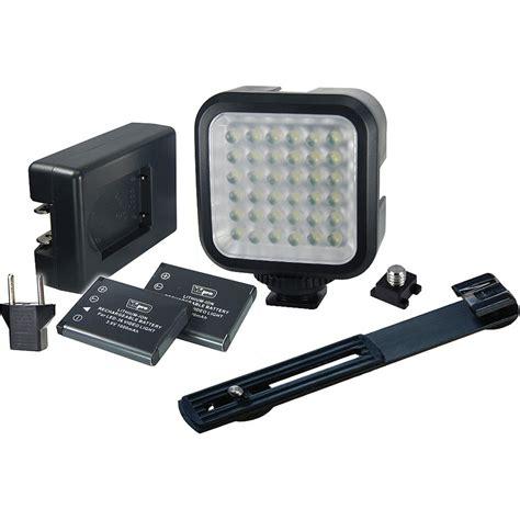 vidpro professional led light vidpro led 36 video light kit led 36 b h photo video