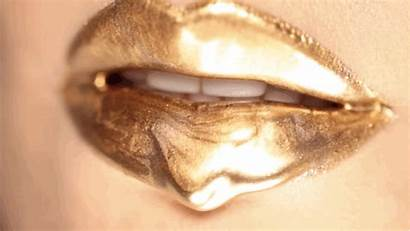 Gold Lip Satisfying Pure Does Drip Woman