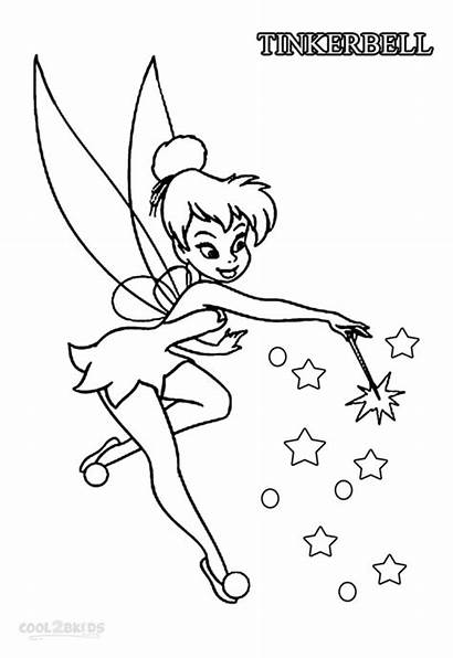 Tinkerbell Coloring Pages Spell Lily Using Printables