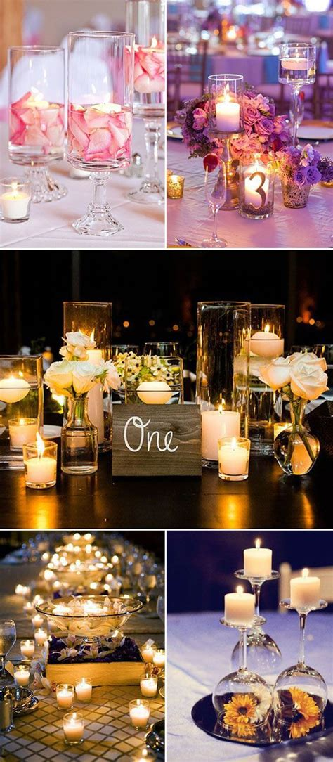 Creative Candles Decoration Ideas F40456 by 25 Best Ideas About Candle Wedding Centerpieces On