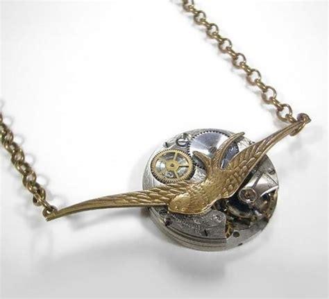 Steampunk Jewelry Necklace Vintage Pocket Watch Victorian