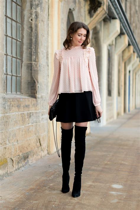 Zara-over-th-knee-boots-blouse-rebecca-minkoff-love-mini-rock-mini-skirt-fashionblog | mehr als ...