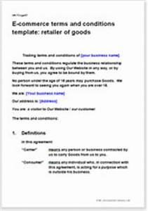 e commerce terms conditions template retailer of goods With retail terms and conditions template