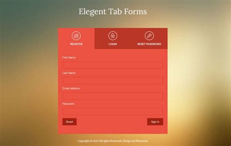 flat style elegent tab forms widget template  wlayouts