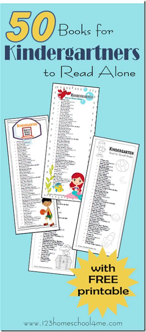 Books Kindergarteners Can Read Alone Free Printables  Free Homeschool Deals