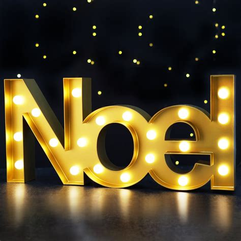 bright zeal christmas marquee sign noel  lights
