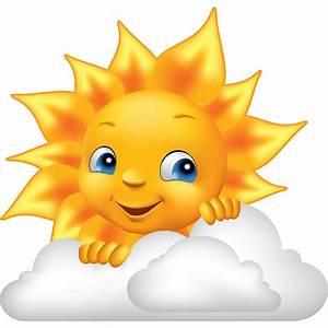 Sticker Design soleil et nuage Stickers STICKERS ENFANTS Smileys ambiance sticker