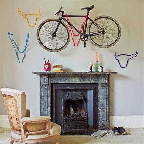rangement astucieux chambre support à vélo au design intéressant et créatif pour