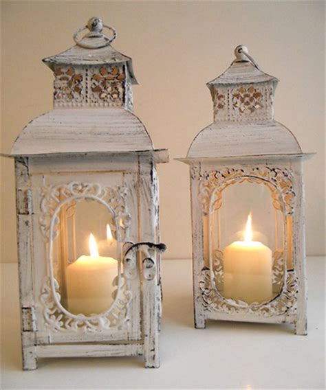 shabby chic lanterns lovely wedding touches venue touches