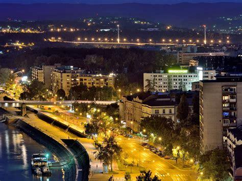 Serbia, Novi Sad, City, Night, River, Lights 1080x1920