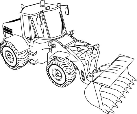 Coloring Jcb by Jcb 135b Bulldozer Ladle Coloring Page Wecoloringpage