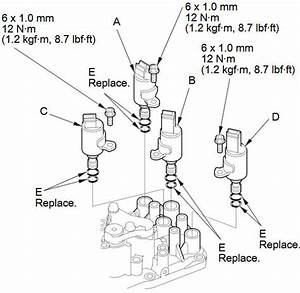 Shift Solenoid Valve Removal And Installation  A  T