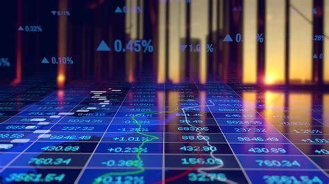 Digital Animation of Finance Business Market Data Numbers ...