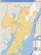 Hudson County, New Jersey Zip Code Wall Map | Maps.com