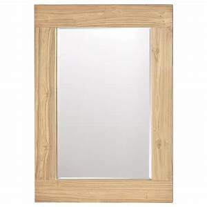 Miroir Cadre Bois : atelier scandinave miroir avec cadre en bois de teck recycl miroirs d cor mural magasinez ~ Teatrodelosmanantiales.com Idées de Décoration