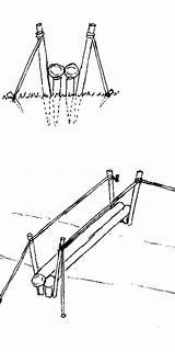 Bridge Suspension Bridges Drawing Rope Simple Picket Getdrawings Foot sketch template