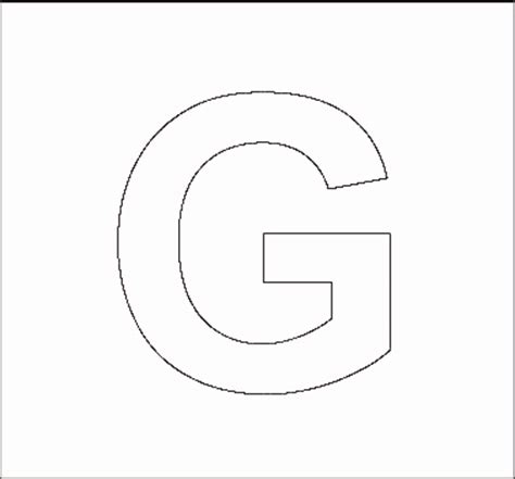 letter g template alphabet stencils all network