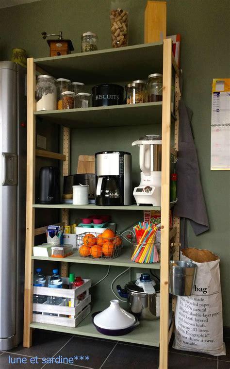 hacker cuisines étagère cuisine ikéa ivar pantry kitchen inspiration
