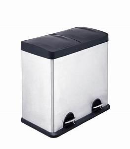 Poubelle De Tri Cuisine : poubelle de cuisine de tri double compartiments en inox ~ Dailycaller-alerts.com Idées de Décoration