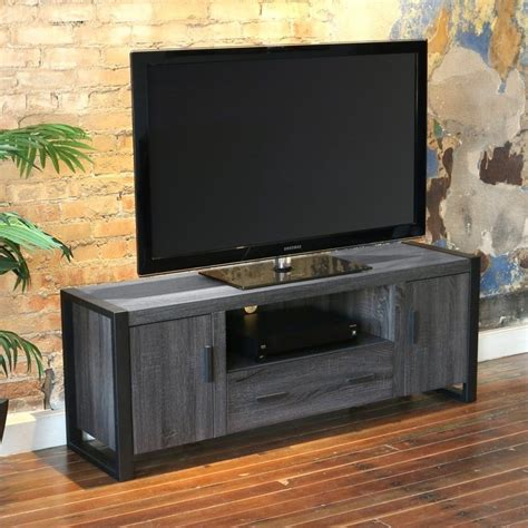 charcoal grey wood tv stand wubccl