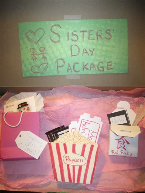 quot day package quot as a present for my gift card for - Gifts For Sisters For Christmas