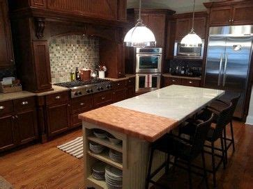 Marble And Butcher Block Countertops by Maple Wood Countertops Spaces Atlanta Craft