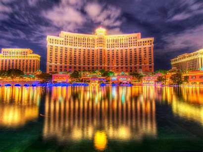 Luxury Vegas Las Lake Hotel Reflection Bellagio