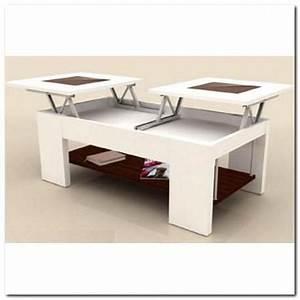 Table Basse Relevable Blanche : table basse double plateaux relevable blanche achat vente table basse table basse double ~ Teatrodelosmanantiales.com Idées de Décoration