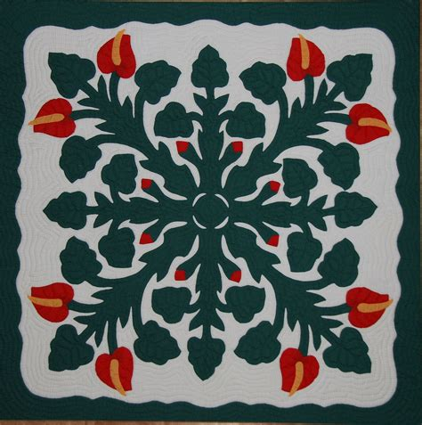 applique quilt hawaiian quilt
