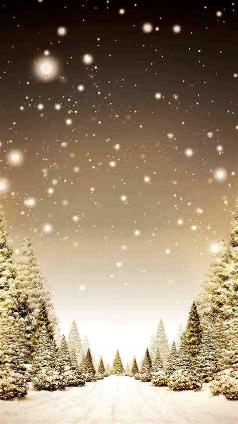 snowy 2014 tree forest iphone 6 wallpaper gold
