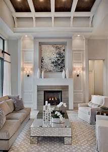 20 lovely living rooms with fireplaces for Fireplace living room