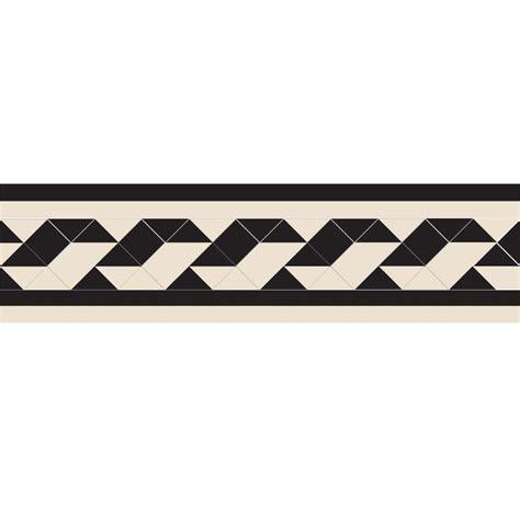 Olde English Twist Border Geometric Floor Tiles   Flooring