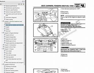 1985 1986 1987 1988 Yamaha Badger 80 Service Manual Cd