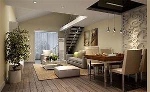 3d dining living room of duplex house ceiling With interior design for duplex living room