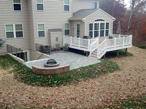 deck  patio combination home design ideas