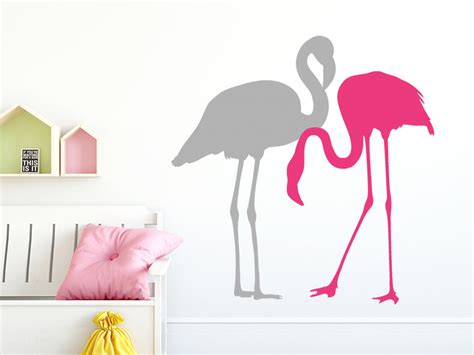 Flamingo Wandtattoo Kinderzimmer by Wandtattoo Flamingos 2 St 252 Ck Als Set Wandtattoos De