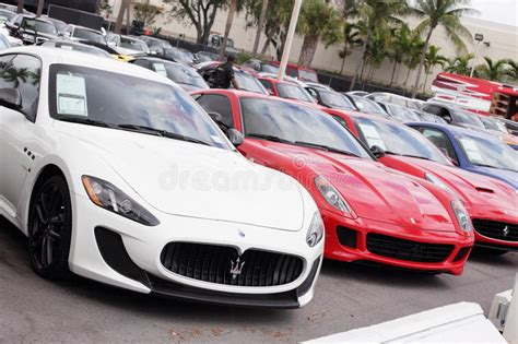 Exotic Cars At Prestige Imports Editorial Photo Image