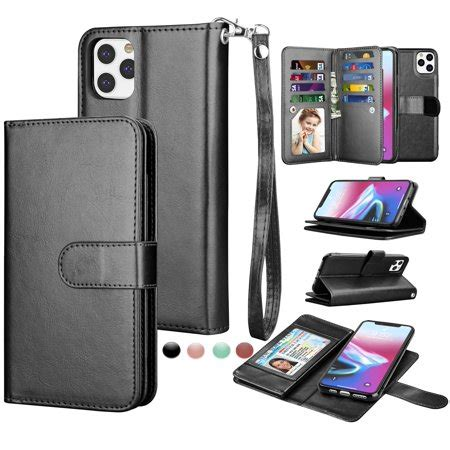 Adjustable holder (for iphone 11 pro max, xs max). iPhone 11 Pro Max Cases Wallet, iPhone XI Pro Max PU Leather Case, Njjex PU Leather Magnet Stand ...