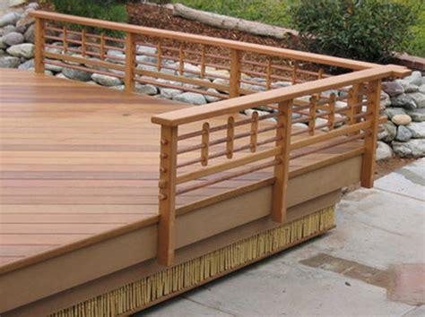wood deck railing ideas architectural design