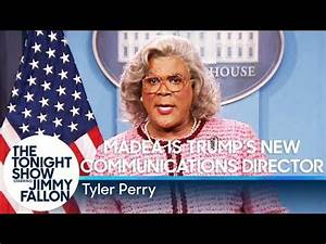 Madea takes her first press conference as Trump's new ...