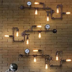 Vintage Loft Industrial Steampunk Wall Lamp Retro Light