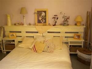 Fabriquer Une Tête De Lit : r cup palettes 34 chambres coucher la t te de lit ~ Dode.kayakingforconservation.com Idées de Décoration