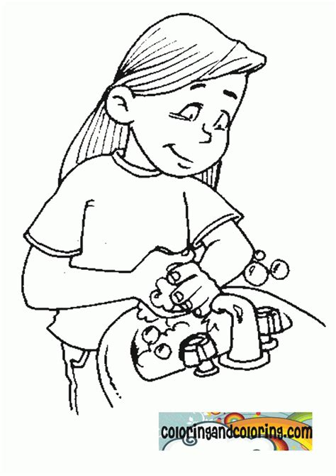 Handwashing Coloring Page  Az Coloring Pages
