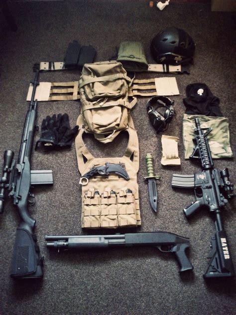 tactical gear survival weapons guns military equipment kit load shotgun airsoft zombie rifle battle m4 gears vest m14 carrier loadout